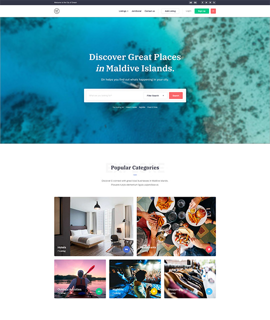 Travel and Tour Guide Joomla Template - JA City Guide | Joomla