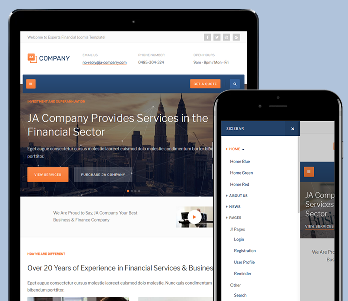 Review | Features : Corporate and Business Joomla template - JA ...