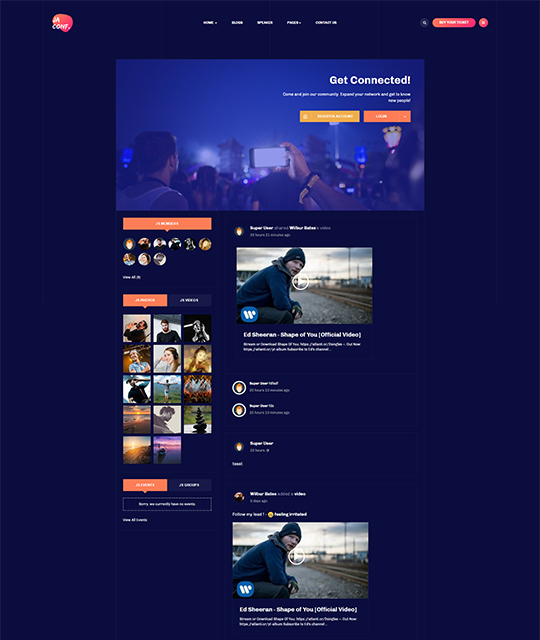 Conference Joomla template for Jomsocial