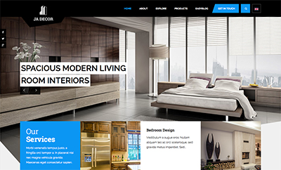 JA Decor - eCommerce Joomla template for decor and furniture