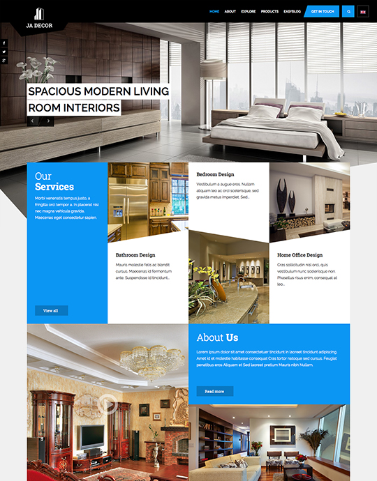 Responsive Joomla decor template - JA Decor