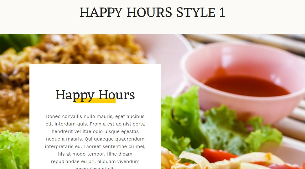 ja Diner happy hourse module