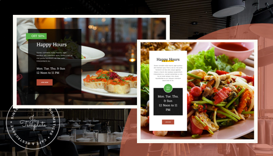 Offer page in restaurant joomla template