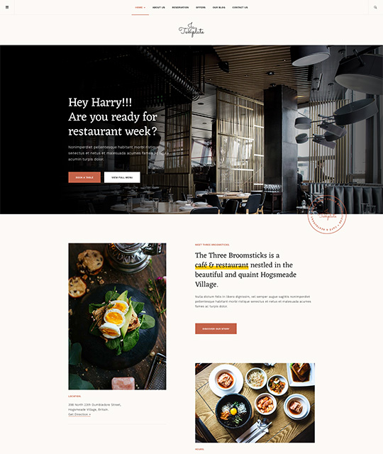 Joomla template for restaurant - JA Diner