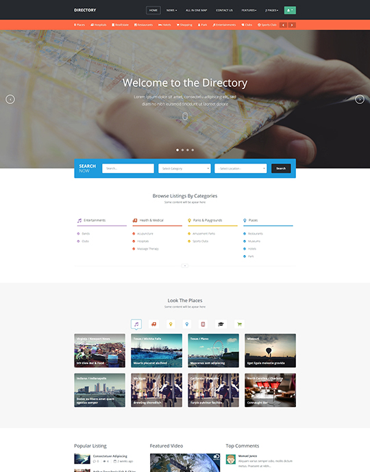Joomla Template For Directory Website Ja