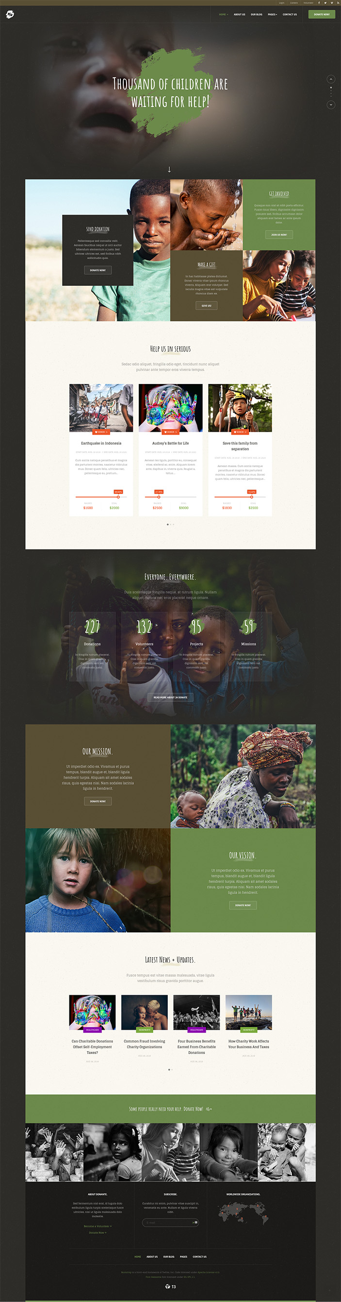 JA Donate Preview - Joomla Template for Charity and Donation ...