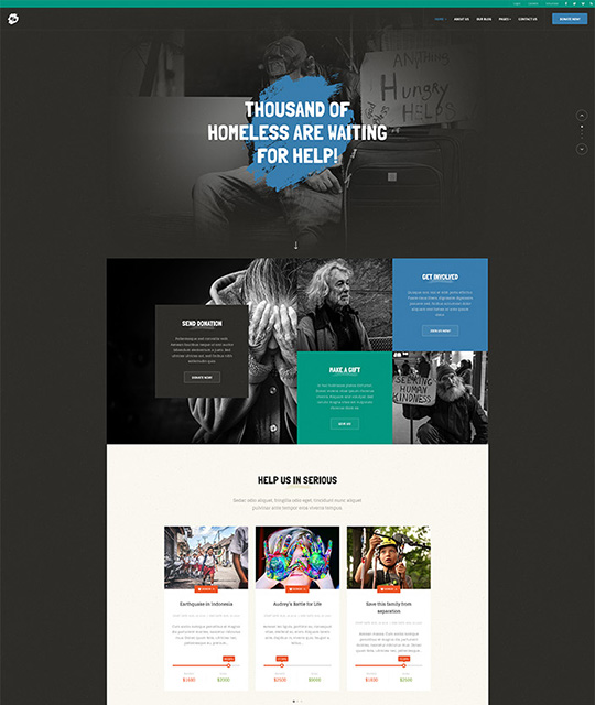 Responsive Joomla template for donation- JA Donate