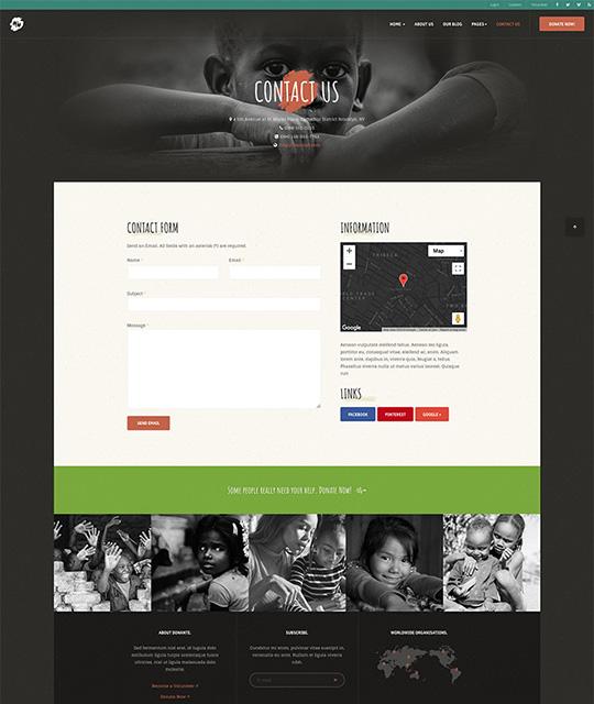 donation Joomla template contact page - JA Donate