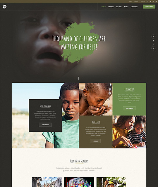 Joomla template for donation green theme - JA Donate
