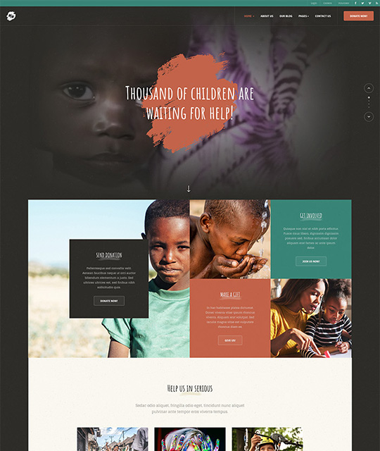 Donation and charity joomla template - JA Donate