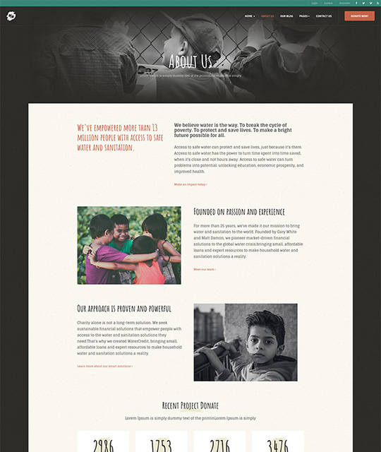donation Joomla template about page - JA Donate