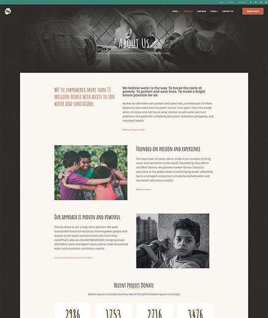 donation Joomla template about page - JA Donate