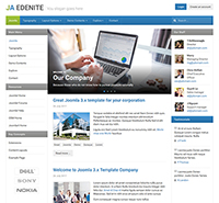 Business Joomla Template - JA Edenite II