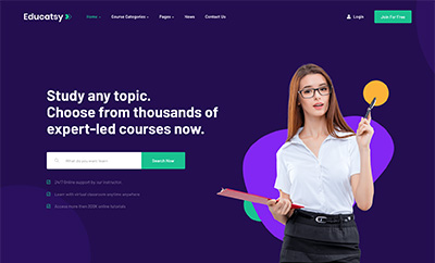 Joomla Education Template - JA Educatsy