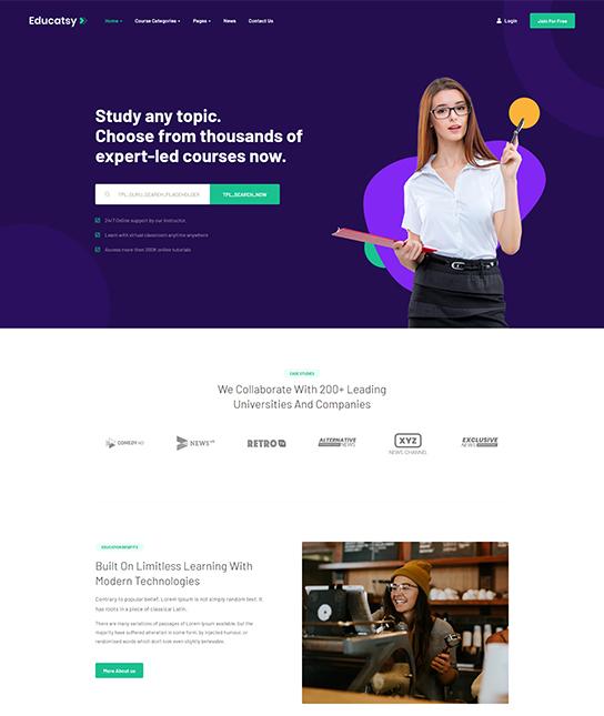 education Joomla template - JA Educatsy
