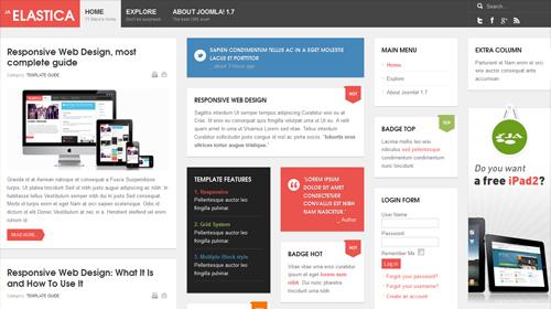 JA Elastica - Free Responsive Joomla Template