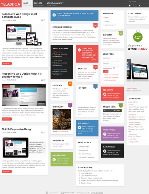 free Joomla template - JA Elastica default