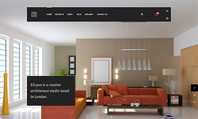 Interior Design Joomla template - JA Elicyon