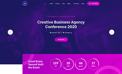 Conference and Event booking Joomla template - JA Event Camp