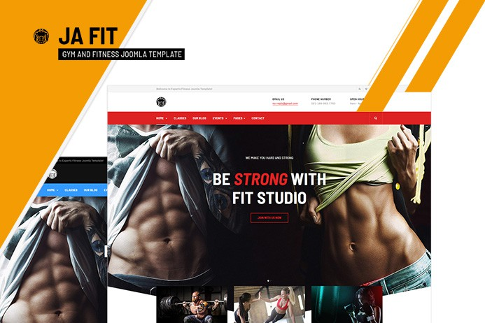 Review | Features : Best gym and fitness Joomla template - JA Fit