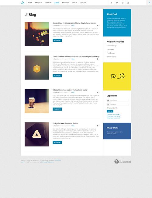 E-commerce Joomla template - JA Fixel