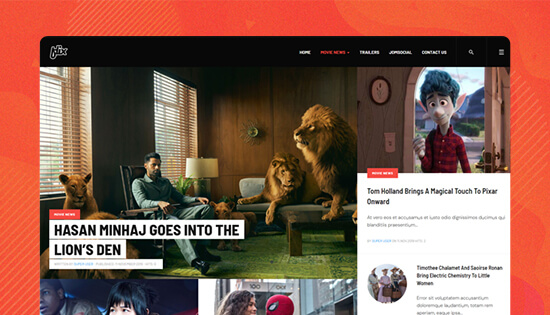 movie news joomla template
