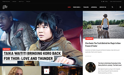 Professional Movie News Joomla Template - JA Flix