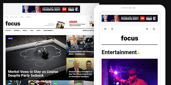 news magazine joomla template ja focus joomla templates and