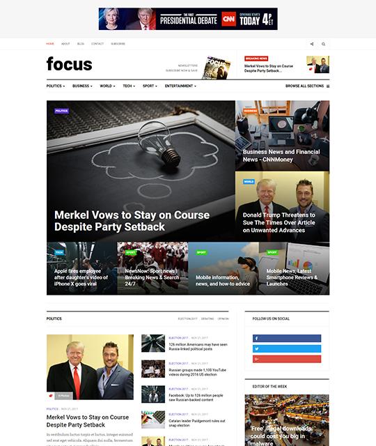News Magazine Joomla Template Homepage Layout Ja Focus