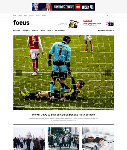 News magazine Joomla Template news category layout new - JA Focus