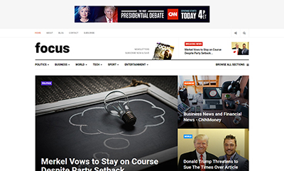 News Magazine Joomla template - JA Focus