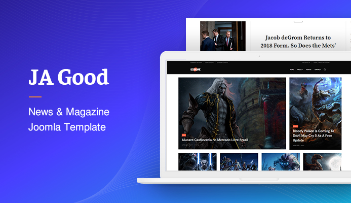 Feature | Review : News and Magazine Joomla template - JA Good