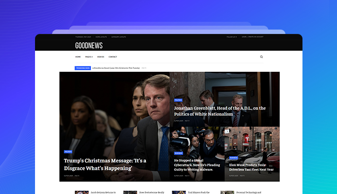 News and magazine Joomla template for Politic News, Game news, Entertainment News