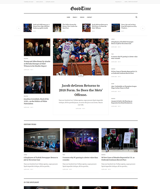 joomla template for newspaper template - JA Good