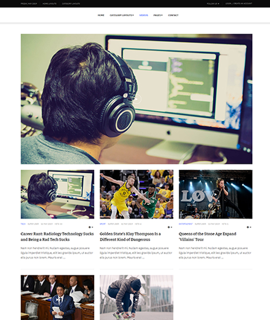 video news joomla template - JA Good