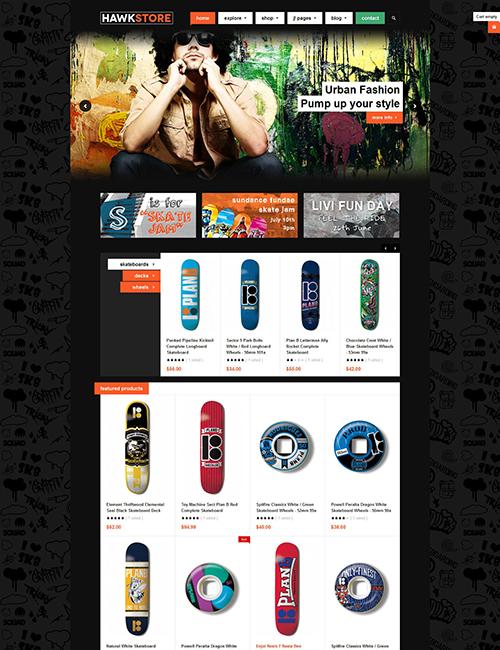 Best eCommerce joomla template - JA Hawkstore
