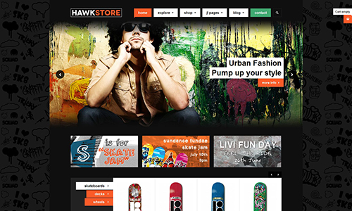 Sports Ecommerce Joomla template - JA Hawkstore