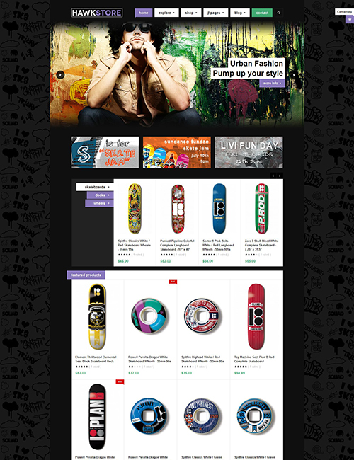 eCommerce joomla template violet color theme - JA Hawkstore