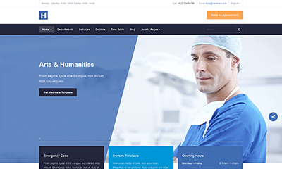 Medical Joomla template for Healthcare Hospital - JA Healthcare