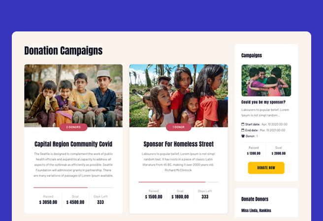 charity Joomla template