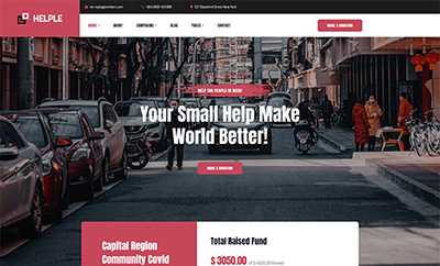 Charity, NGO, and Donation Joomla template - JA Helple