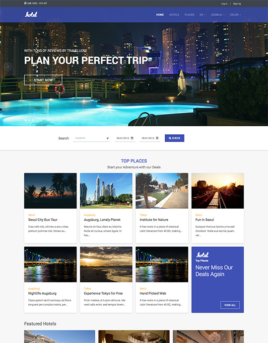 joomla template for hotel booking and travel ja hotel
