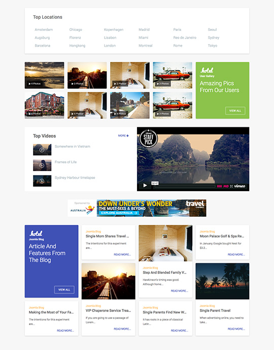 Joomla template for tourism - JA Hotel