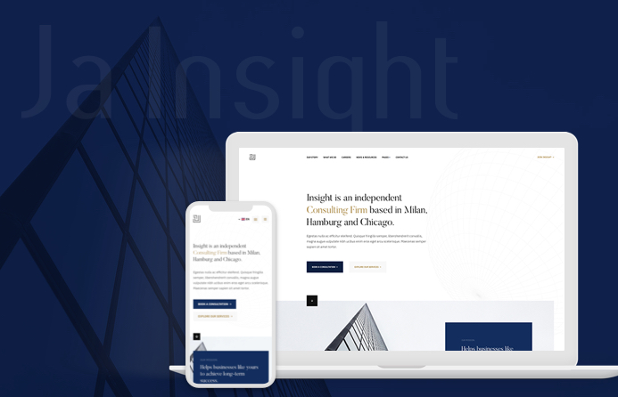 JA Insight Responsive business joomla template