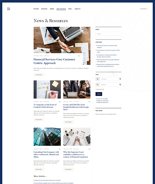 Blog page of JA Insight business Joomla template