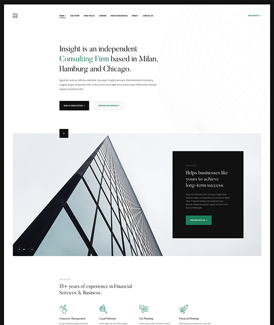 Grey theme for business Joomla template - JA Insight