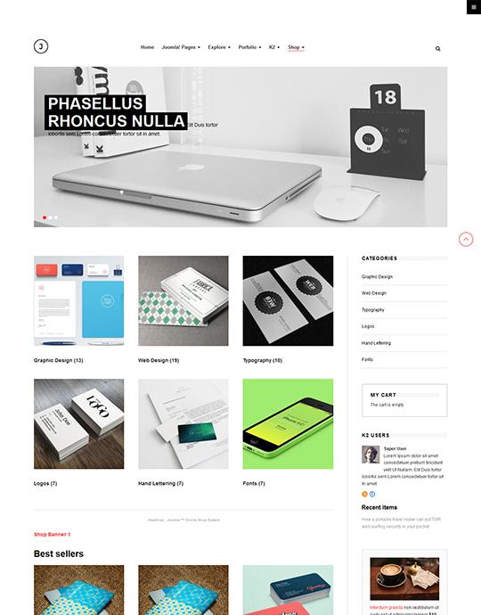 portfolio joomla page - JA Jason