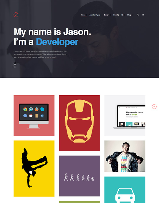 Joomla template for portfolio - JA Jason