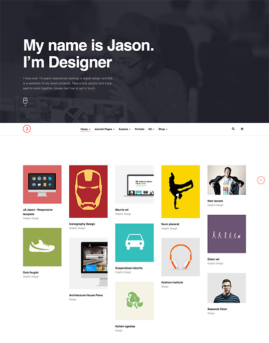 joomla template for CV - JA Jason