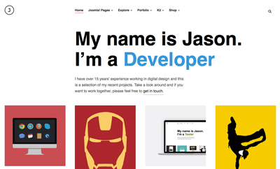 JA Jason - Joomla Template For Portfolio and Resume